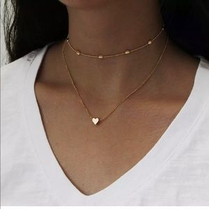 Layered Heart Charm Necklace ❤️